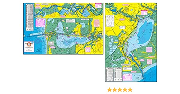 Amazon Com Topographical Fishing Map Of Sabine Lake And Calcasieu