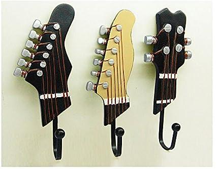 lariy 3 piezas para guitarra eléctrica música casa decoración de la pared colgador para sombreros para