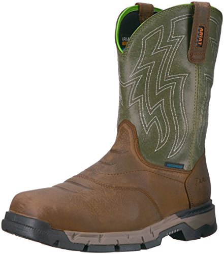 Ariat Work Men's Rebar Flex Western H2O Work Boot, Rye Brown, 10 D US