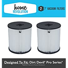 "2 Dirt Devil 7"" Home Revolution Brand Replacement Central Vacuum Filter Fits Pro series; Compare to Part # 8106-01"