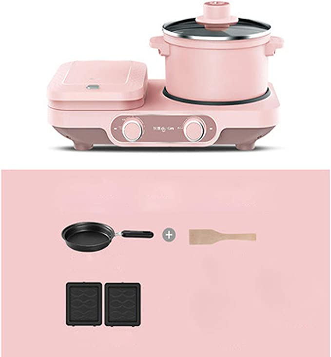MS-09 Mini Electric Sandwich Maker Breakfast Machine Multifunctional Automatic Household Bread Maker Dishwasher Safe ABS Non-Stick Coating White 750W