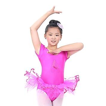 Jiacheng29 bebé niñas Vestido tutú de Ballet de Manga Corta Falda ...