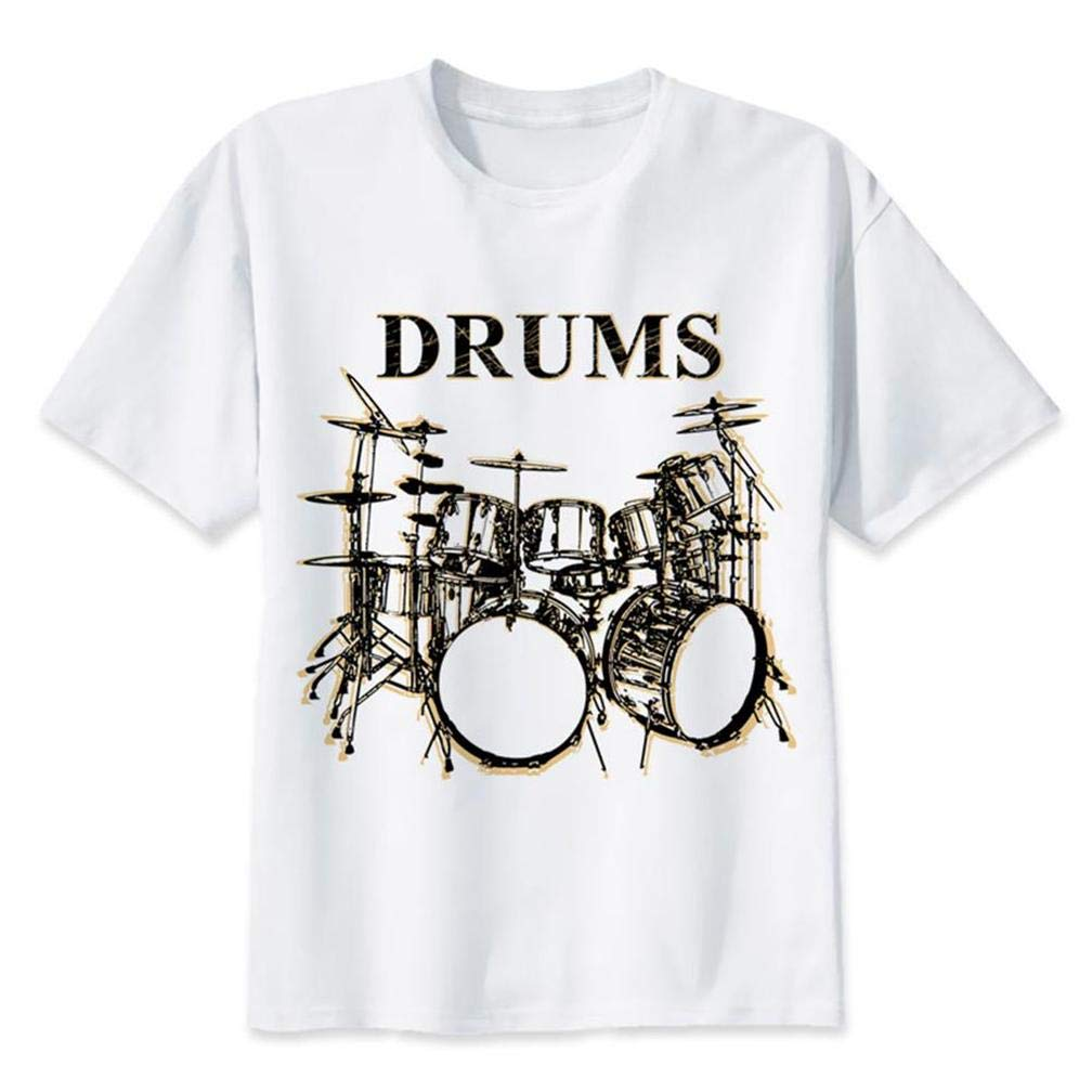 Drums S T Shirt Printing Short Sleeve Tee
