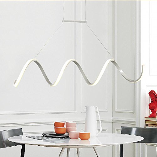 Continental curve led chandelier creative personality of minimalist continental curve led chandelier creative personality of minimalist scandinavian style restaurant bar light lamp super bright mozeypictures Image collections