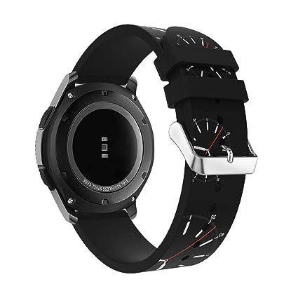 DIPOLA Correa de Reloj para Samsung Gear S3 Frontier Reemplazo de Banda de muñeca de Silicona