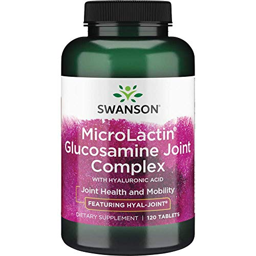 Swanson Microlactin Glucosamine Joint Complex with Hyaluronic Acid 120 Tabs