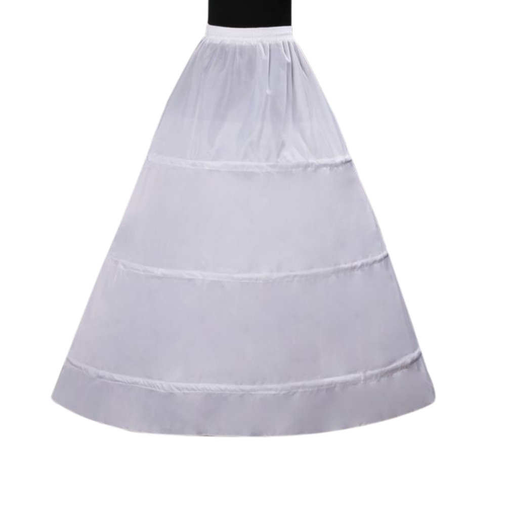 Harsuccting Women's A-line Wedding Accessories 3 Hoops Petticoat Underskirt Slips HT-PT-02-3Ring