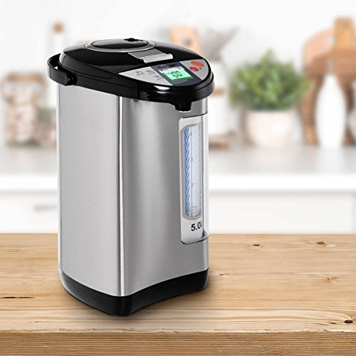 5-Liter LCD Water Boiler and Warmer Electric Hot Water Dispenser by Apontus