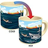 Shark! Heat Changing Coffee Mug - Add Hot Liquid and The Sharks Lurking Under the Water Appear - Comes in a Fun Gift Box