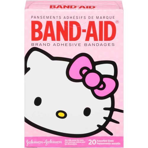 Band-Aid Brand Adhesive Bandages Hello Kitty Decorated Assorted Sizes 20 ct Box - 24 per case. by Johnson and Johnson