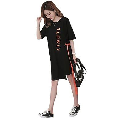 BOZEVON Vestido Lactancia de Mujer Embarazo - Moda Premamá Blusa Maternidad de Manga Corta Verano Camiseta Vestidos: Amazon.es: Ropa y accesorios