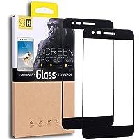[Paquete de 2] LG Aristo /LG Phoenix 3 /LG K8 2017 /LG K4 2017 /Protector de pantalla de cristal templado LG Fortune, cobertura de pantalla completa de diseño exacto, antirayas, sin burbujas, garantía de por vida de reemplazo