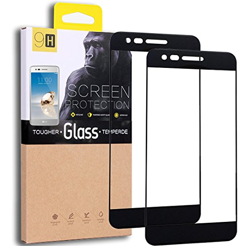 [2-Pack] LG Aristo / LG Phoenix 3 / LG K8 2017 / LG K4 2017 / LG Fortune Tempered Glass Screen Protector, Exact Design Full Screen Coverage, Anti-Scratch, Bubble Free, Lifetime Replacement Warranty