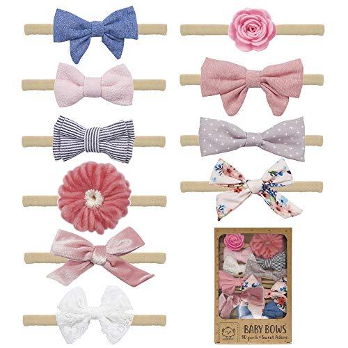 Baby Girl Headbands and Bows - Baby Girl Nylon Headband Hair Accessories