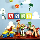 Large Toy 3D Wooden Block Letter Wall Decor DIY kit