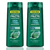 Garnier Hair Care Fructis Men's Grow Strong Cooling Deep Clean Shampoo with Cooling Scalp Technology, Formulated with Mint Extract, Instant Cooling Menthol for Invigorated Hair, 22 Fl Oz, 2 Count