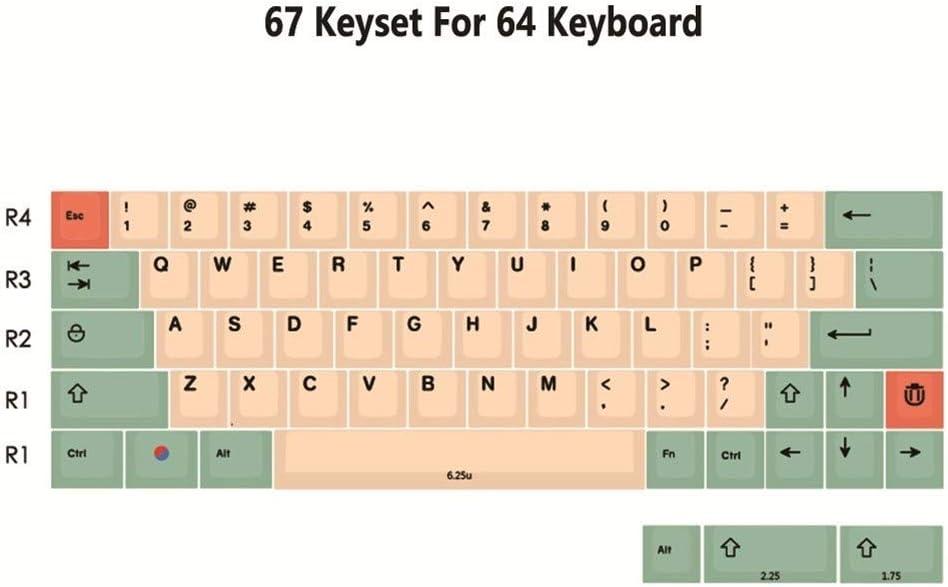 Color : 139 Japanese Set Keyboard keycaps PBT KEYCAP Set for Mechanical Keyboard 104 87 61 Filco YMD96 KBD75 FC980M Minila
