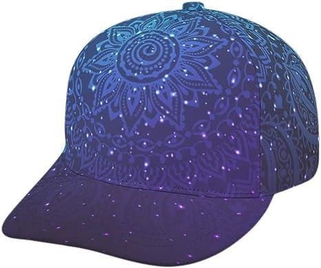 AXGM Unisex-Erwachsene Kappe M/ütze Sternenhimmel Gr/üne Sterne Klassische Mesh Sport Hut Snapback Cap mit Schirm Sommerhut f/ür Herren und Damen