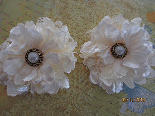 4 Ivory Cream Corsage Flowers, Bridal Corsage Flowers, Maid of Honor Corsage, Mother of The Bride Corsage, Sweet 16 corsage, Spring Flower Corsage ()
