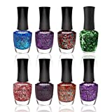 Nanacoco Nail Polish Color Lacquer Set 8-Piece Collection #15 Glitter