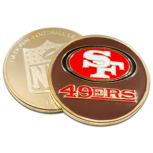 - Art Crafter The USA NFL San Francisco 49ers Logos Coins Badge S046