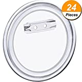 6 crepe maker - Hotop 24 Sets Design a Button, Clear Plastic Button with Pin for DIY Crafts (2.36 Inch)