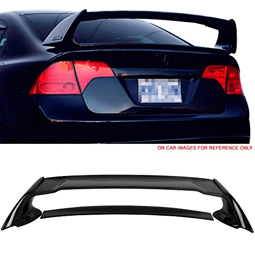 - Pre-painted Trunk Spoiler Fits 2006-2011 Honda Civic | Mugen Style Painted Crystal Black Pearl #NH731P ABS With CF Carbon Fiber Rear Wing Tail Roof Top Lid other color available by IKON MOTORSPORTS