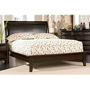 this item phoenix cappuccino king size platform bed frame
