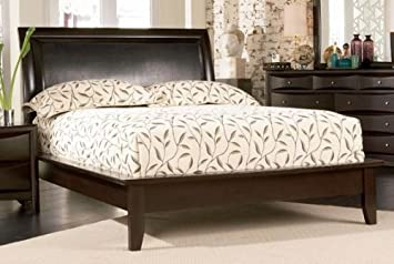 phoenix cappuccino king size platform bed frame