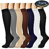 7 Pairs Compression Socks For Women and Men - Best Medical, Nursing, for...