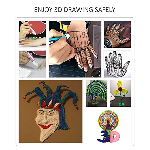 Aibecy Dewang DW-X4-2.0 Intelligent 3D Printing Pen with LCD Screen Kid Birthday Christmas Gift by Aibecy (Image #7)