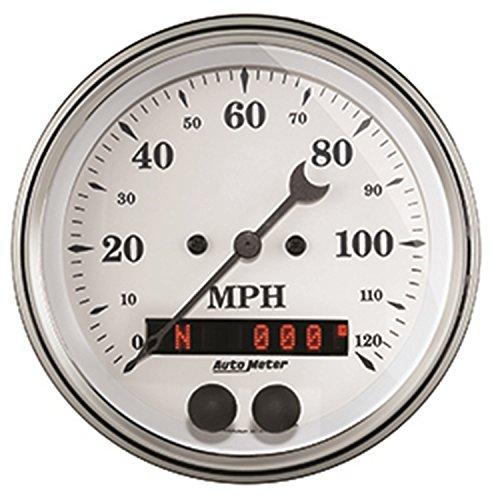 (Auto Meter (1649 Old TYME White 3-3/8