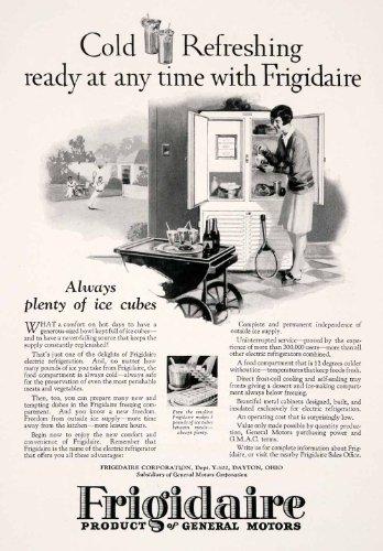 Racket Cart (1927 Ad Frigidaire General Motors Dayton Ohio Home Appliance Tennis Racket Cart - Original Print Ad)