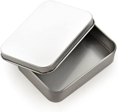 welim pequeña caja cuadrada caja cuadrada de hierro caja contenedor (hojalata Caja de cigarrillos adecuado para todos los tipos de las artes y manualidades plata 3pcs: Amazon.es: Hogar