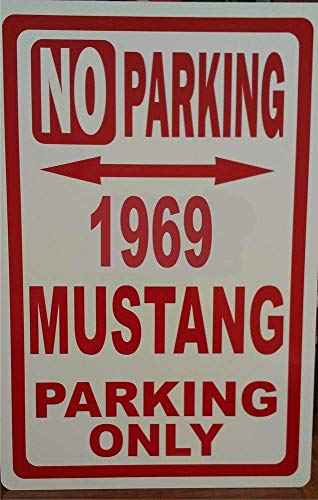 New Metal Sign Mustang Ford Novely No Parking Street Sign Decor Novelty Art Sign for Wall Art Home Indoor Outdoor Yard Sign 8x12 Inch