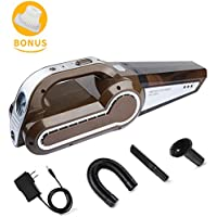 Cordless Vacuum, WEINAS 12V 120W Handheld Car Vacuum Cleaner Powerful Pet Hair Vacuum Portable Wireless Rechargeable Dust Busters for Household and Car Cleaning
