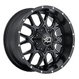 Dropstars 645B Wheel with Black Finish (20x12''/6x5.5'', -44mm Offset)
