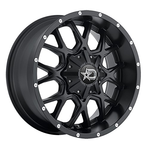 Dropstars 645B Wheel with Black Finish (20x12''/6x5.5'', -44mm Offset)