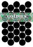 Tafeletiketten/Tafelaufkleber, mehrfach beschriftbar, für Kräuter-/Gewürzbehälter oder Tupperware, klein, 30mm Durchmesser, 30Stück