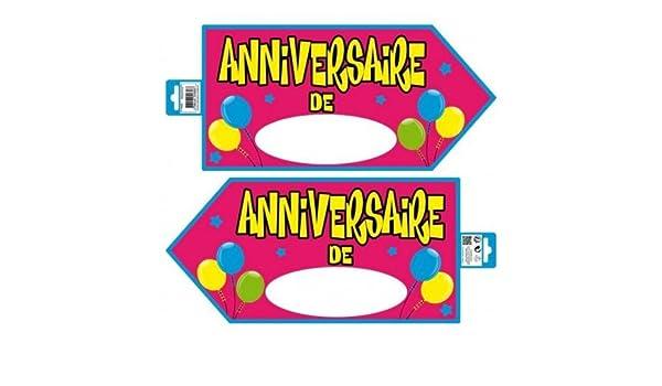 Panel de identificación de cumpleaños, color rosa: Amazon.es ...