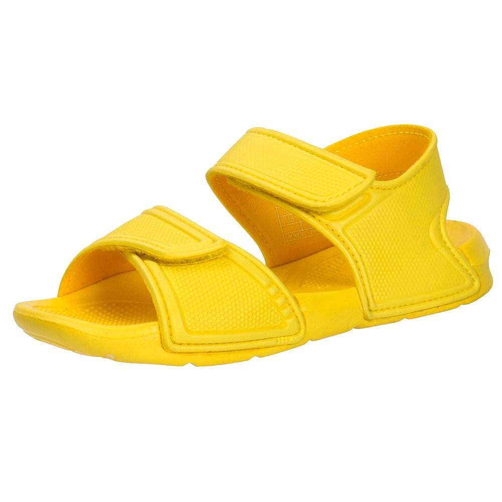 Zefani Kid's 2-Strap Sports Sandals Children Non-Slip Summer Beach Shoes Yellow 9.5 M US Toddler