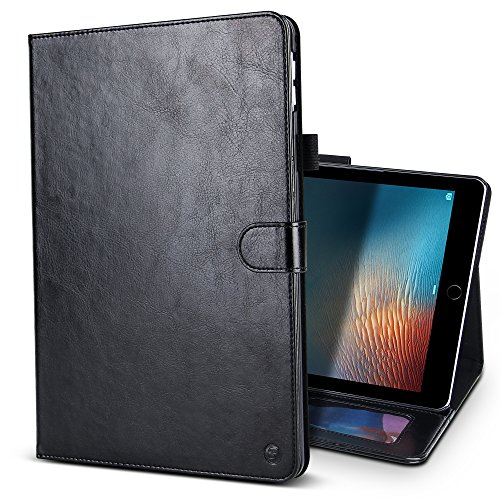 iPad Pro 10.5 Case,BELK Elegant Retro Series Scratch-Resistant Leather Folio Flip Stand Cover Case With Card Slots  Pencil Holder  Magnetic Wake/Sle…