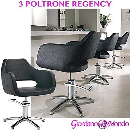 3 sillones de salón peluquería y barbería silla Hair Regency ...