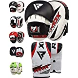 RDX Boxing Focus Bag MMA Training Punching Hook & Jab Strike Pads Traget With Bag Mitts