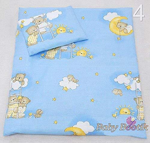 2-teiliges Baby Kinder Bettbezug 80 x 70 cm mit Kopfkissenbezug Muster 11