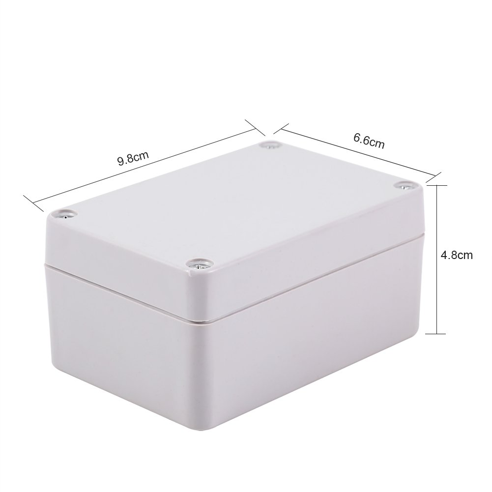 1pc Waterproof Junction Boxes Plastic Wiring Electrical Box Abs Outdoor Flame Retardant Material Square