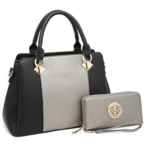 0a4aff399068 MK Belted collection Stylish women handbags~Vegan leather Satchel handbag  Top handle purse Classic/