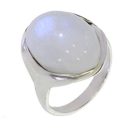 cf216989 Anillo con Piedra de luna 42-10 - Bisutería de plata con Piedra de ...