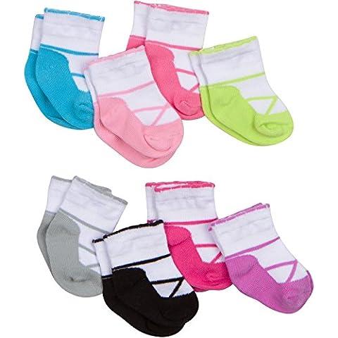 Gerber Baby Girls' 8 Pack Snug-Fit Sock, Pastel Ballet, 0-6 Months (0 3 Months Baby Girl)
