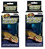 (2 Pack) Zoo Med Moonlite Reptile Bulbs - 100 Watts each
